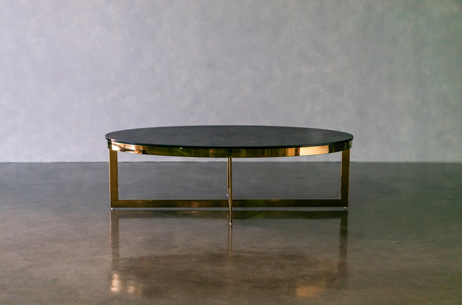 Cross Oval Ceramic Table